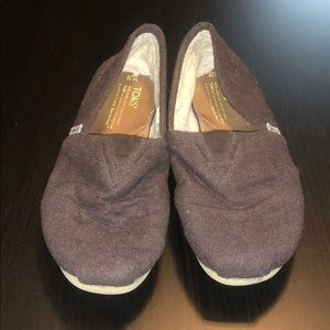 Brown Wool Toms with Serpa Inside, Men's size 10